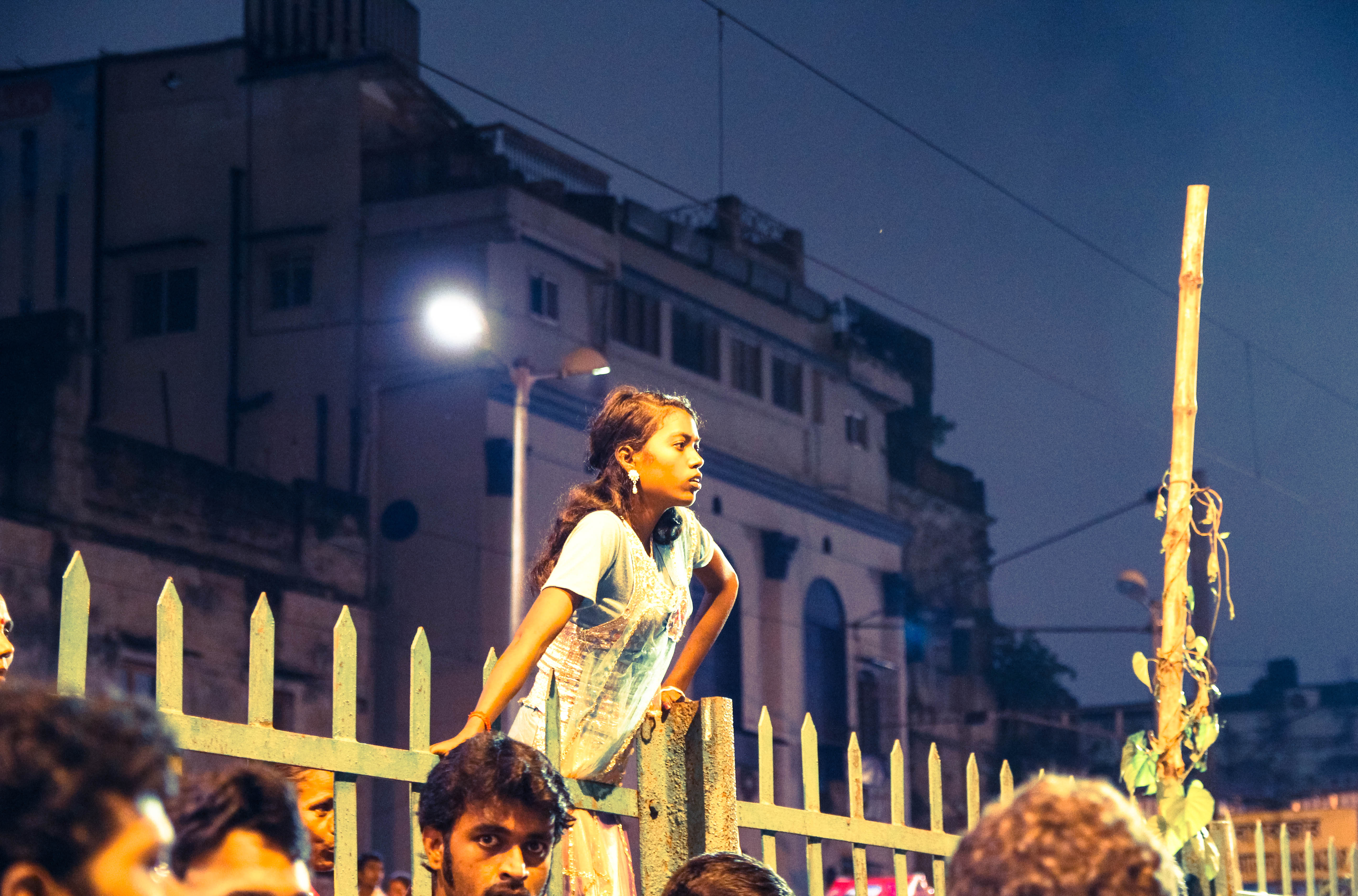 Girl looking toward Ganges