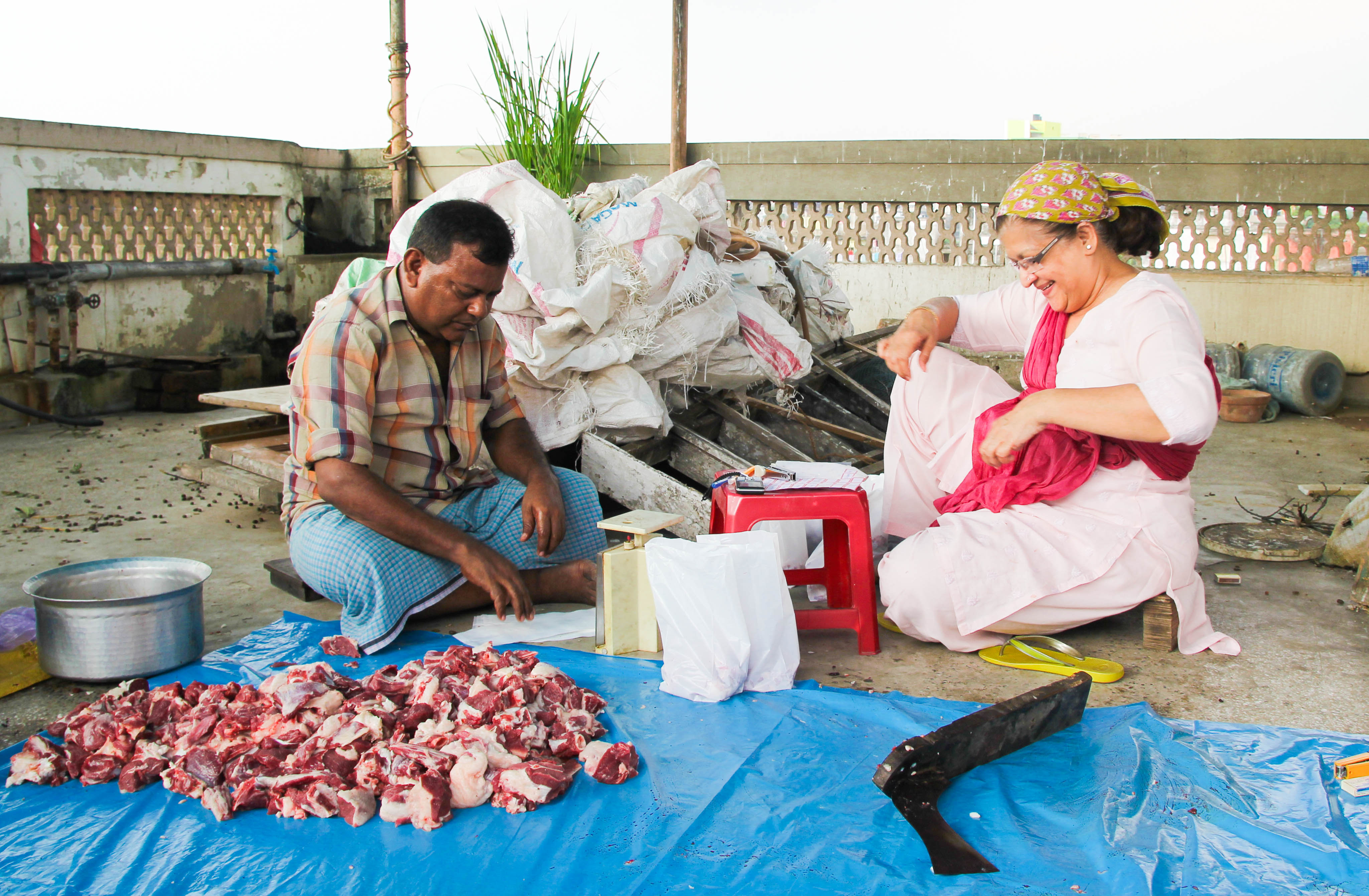 Dividing meat