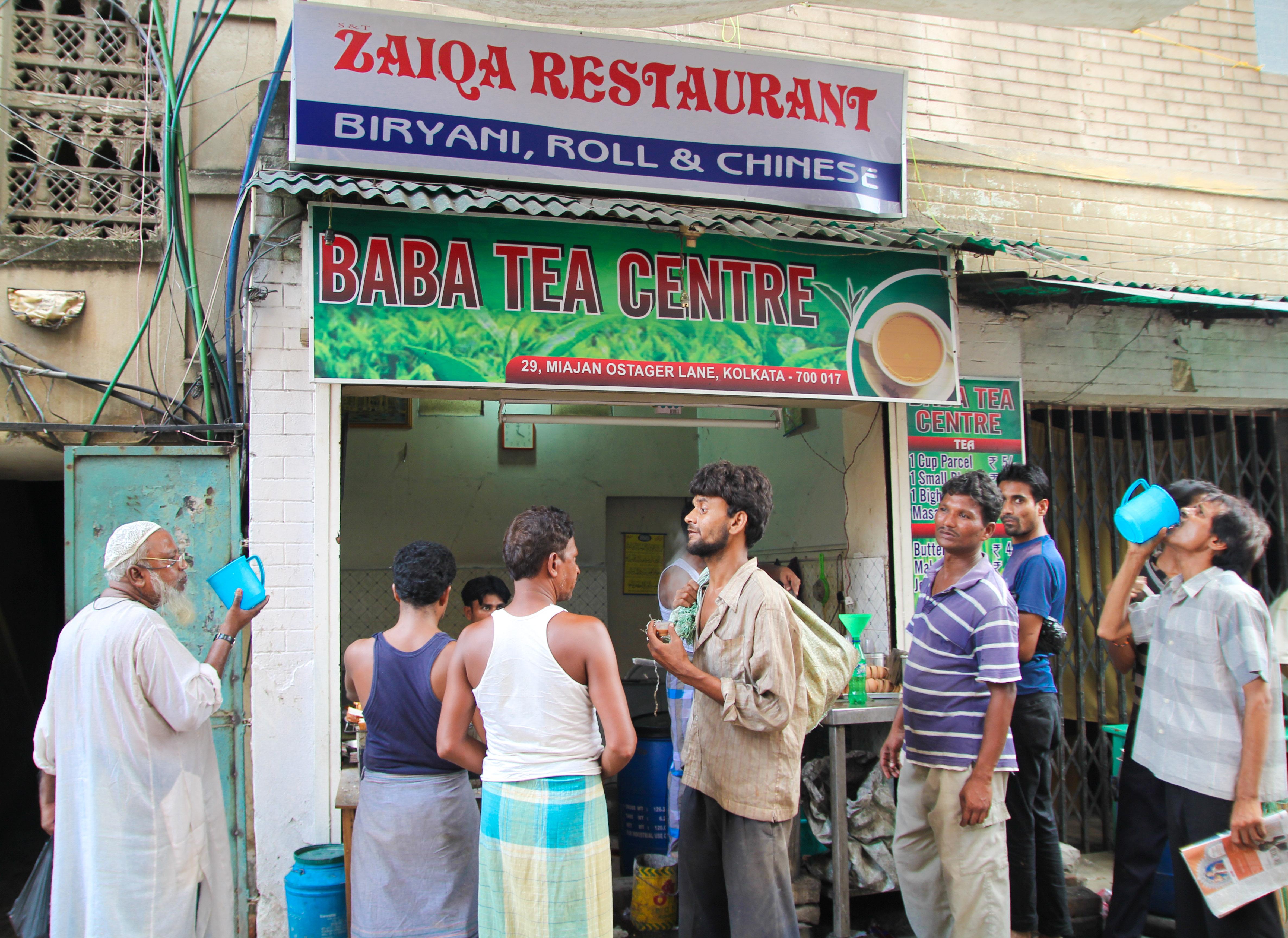 Kolkata chai stand on Bakra Eid