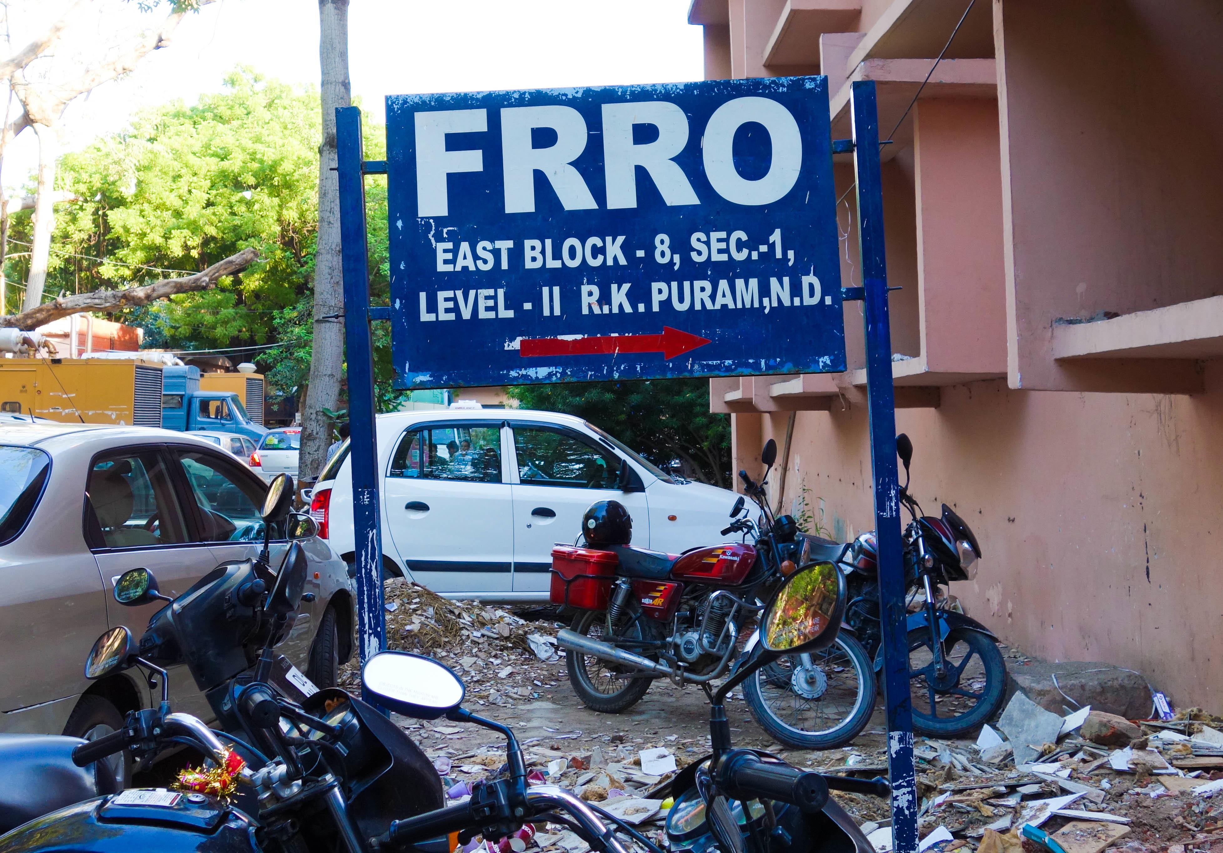 FRRO sign